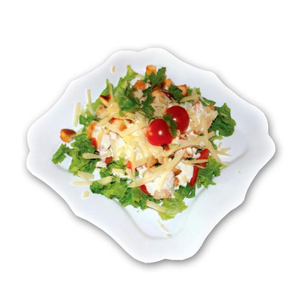 Салат с сухариками копченой курицей и помидорами рецепт