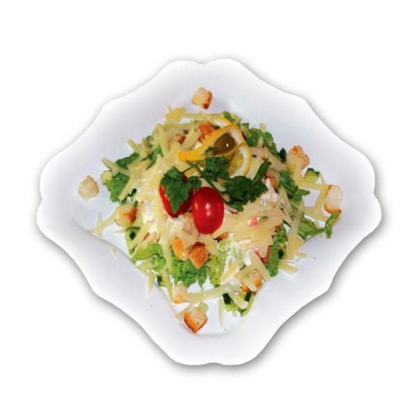 Салат цезарь с семгой в домашних условиях рецепт пошагово