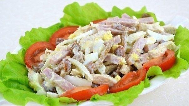 салат из ветчины фоторецепт